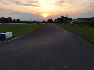 Sunset over Sutton Circuit in Leicestershire
