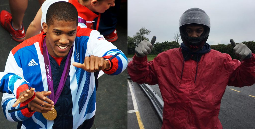 Anthony Joshua Karting in the Rain in Leicestershire
